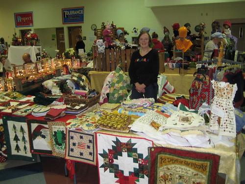 mom at Franklin craft fair