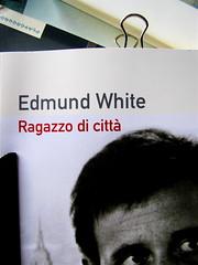 Edmund White, Ragazzo di città, Playground 2010, Graphic Designer: Federico Borghi , alla cop.: [ritr. fotog. b/n di E. W., © e anno non indicati] cop., 6 (part.), 1