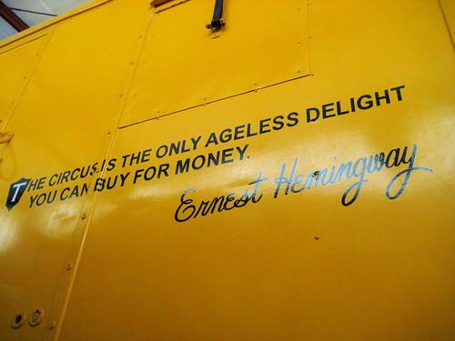 Ernest Hemingway Circus Quote