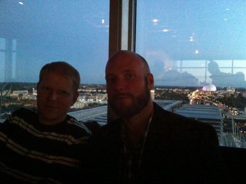 Henrik och Ego on top of the world