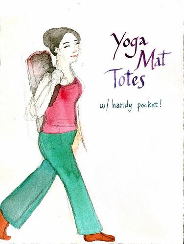 Yoga Mat Tote sign