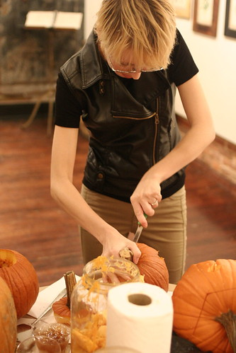 Pumpking Carving at Art in the Age