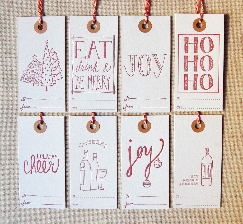Gift Tags // Christmas 10 // all 8 in red