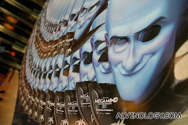 Megamind masks for everyone