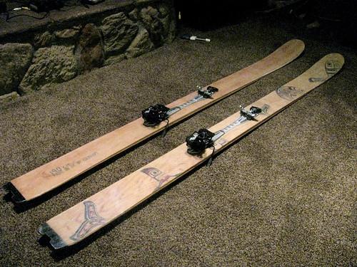 homemade skis