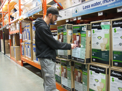 Craig at Home Depot toilet shopping
