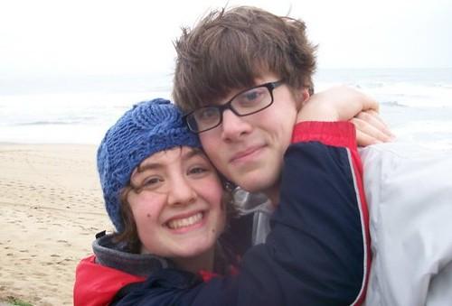 Amelia and Steve on the beach