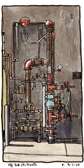 3rd st gas/water pipes