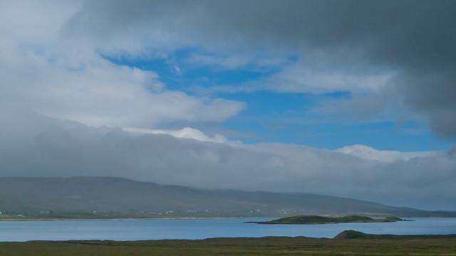 A rare glimpse of sunshine over Loch Eriboll