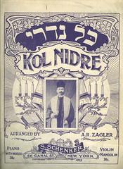 Sheet music:  Kol Nidre