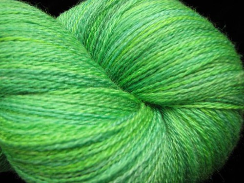 Tropical Breeze - Hand Dyed Lace Yarn - Zephyr Silk Merino