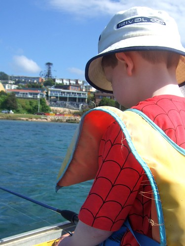 spiderman fishing