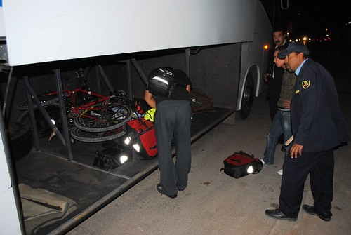 Loading bikes onto bus
