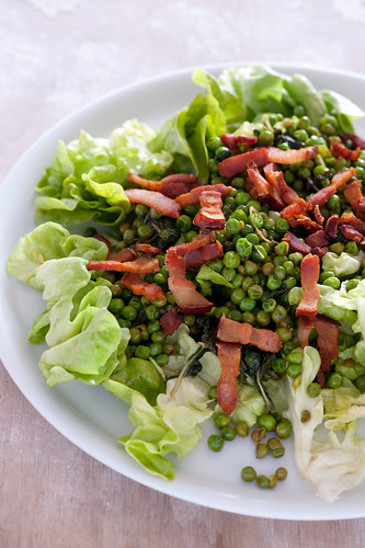 pea & bacon salad