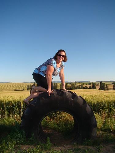 Climbing a Tire