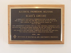 IEEE Plaque in Heart's Content cable station