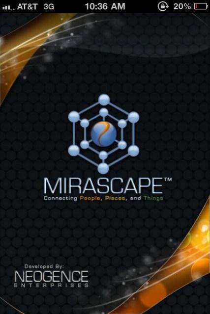 Mirascape iPhone app