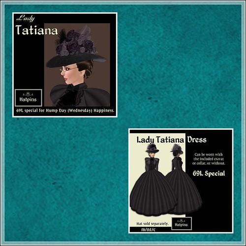 Hatpins - Lady Tatiana Hat and Dress - HDH