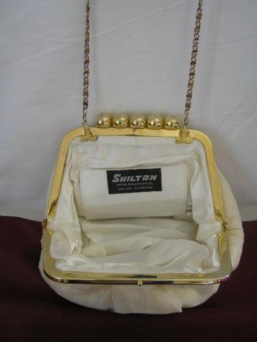 Handbag Cream Rayon Shilton 2