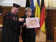 Andrei Marga si Angela Merkel