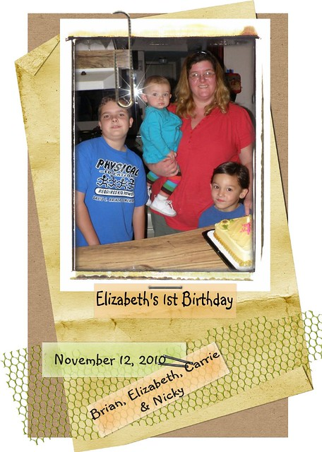My daughter and grandchildren-Elizabeth 1st B-day