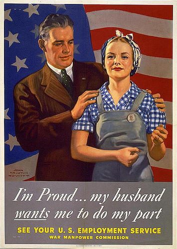 WW2 Poster I'm Proud My Husband Wants Me To Do My Part