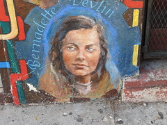 Bernadette Devlin: Northern Ireland graffiti portrait, photographed by Gary Stevens