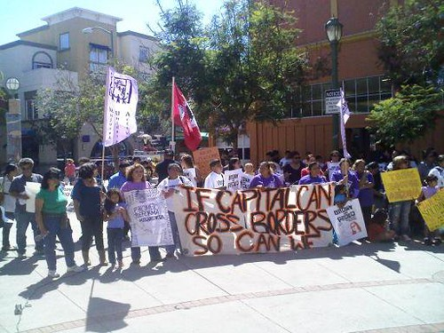 Solidarity protest in Oakland against SB1070