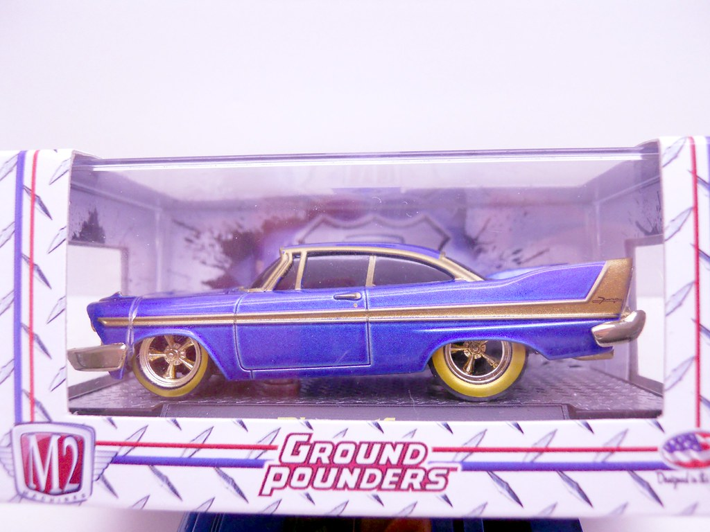 m2 ground pounders 1958 plymouth fury chase