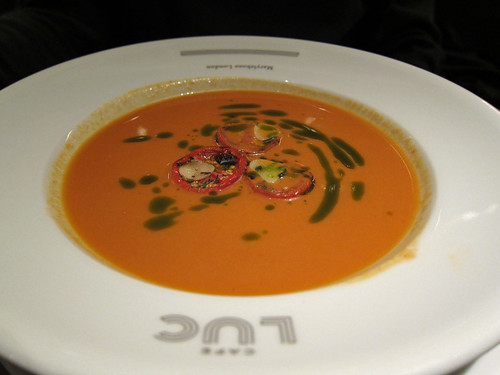 Tomato Gazpacho with Basil Oil