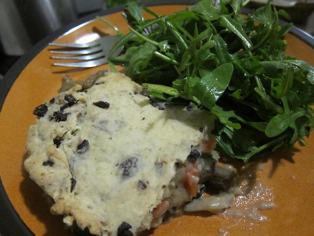 Mushroom pie and side salad