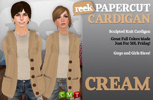 Reek - Papercut Cardigan - Cream