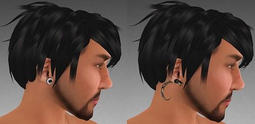 MHOH4 # 124 - Dionysia Designs Surgical Steel Earings and Bone Expander Earrings