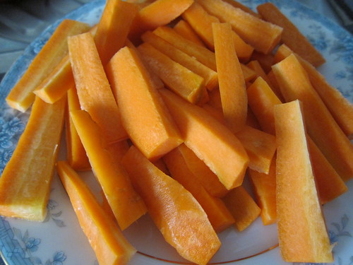 carrot sticks for my hummus