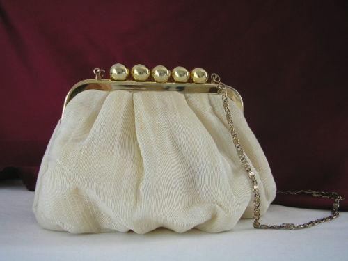 Handbag Cream Rayon Shilton 1
