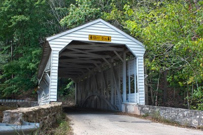 Knox-Valley Forge Covered Bridge (East Entrance) hdr 05