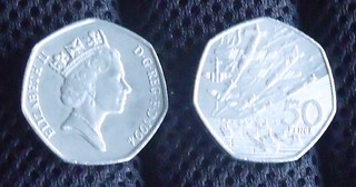 50 Pence coin 1994 - 50th anniversary of D-Day...