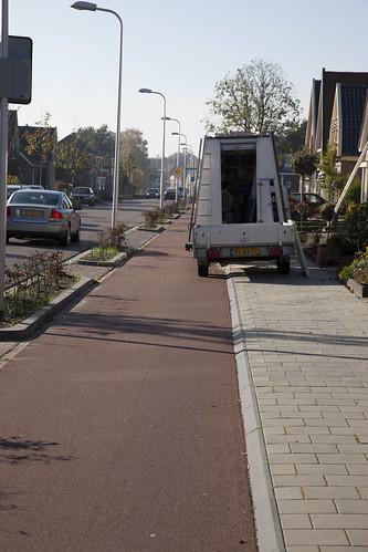 Blocking the bike path