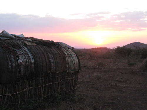 Sunset over Parkishon, Kenya