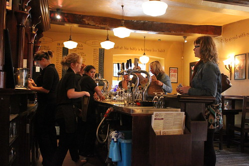 The bar at the Belgian Monk