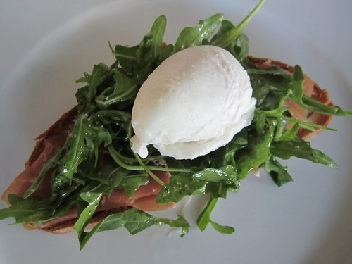 Poached Egg and Prosciutto Tartine
