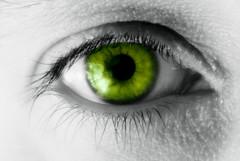 Green eye - jealousy