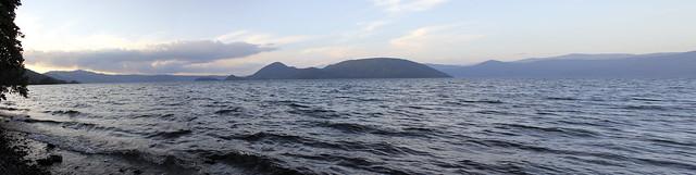 lake, at sunset