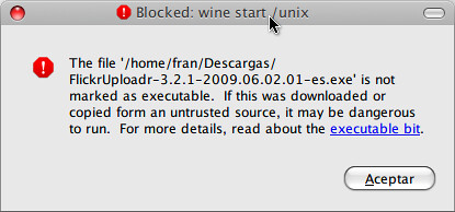 Pantallazo-Blocked: wine start -unix