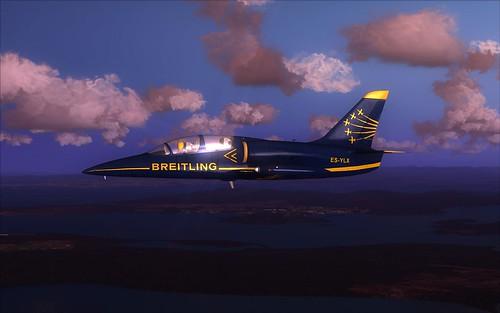 Volando solo en un L-39C