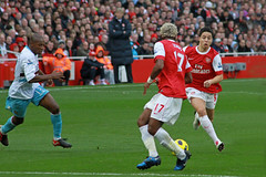 Luis Boa Morte, Samir Nasri and Alex Song