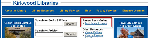 renew libray items online
