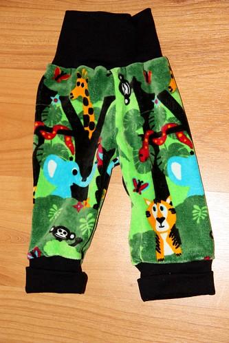Velour pants, size 74cm