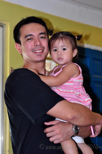 Lia with her papa at Cocina Juan