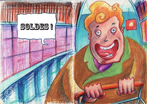 Soldes ! (Sales !) -Illustration de Gilderic